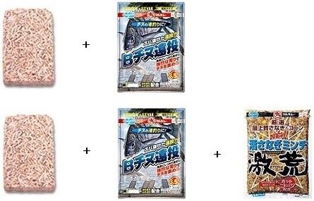 チヌ ( 黒鯛 ) の渚釣り マキエ ( コマセ ) の作り方 配合レシピ