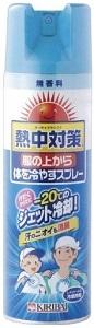 熱中対策 服の上から体を冷やすスプレー 桐灰化学