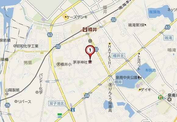 茅渟( チヌ )神社の場所