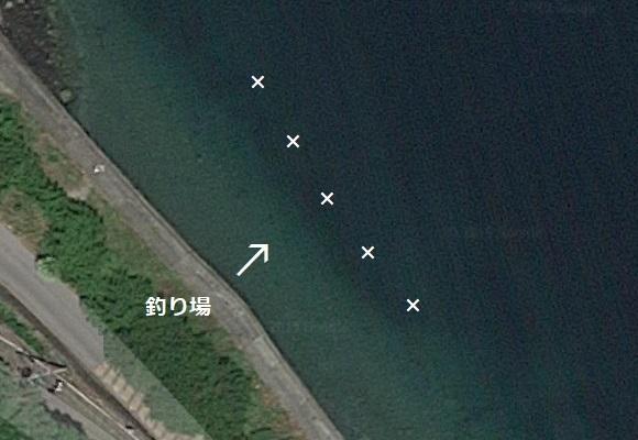 釣り場の航空写真 2