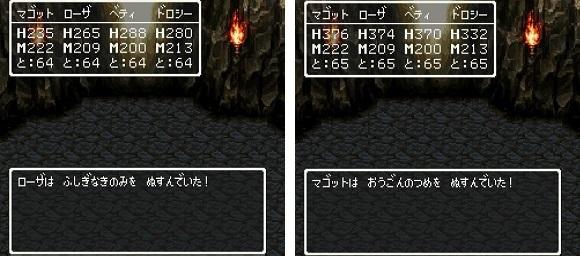 ドラゴンクエスト�V そして伝説へ... 謎の洞窟 ふしぎなきのみ おうごんのつめ.jpg